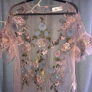 Sheer Blouse with embroidery